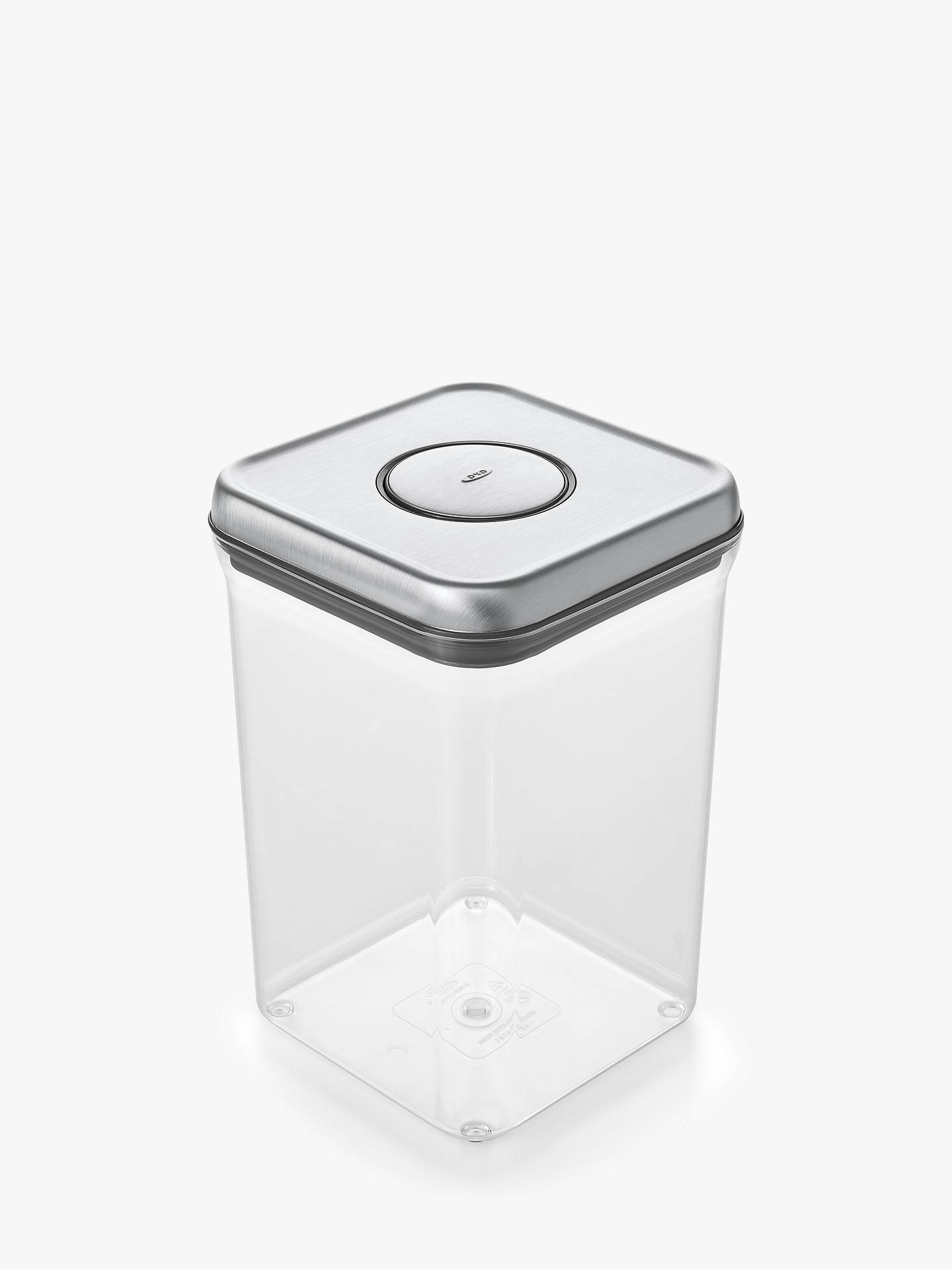 Oxo Good Grips Square Quot Pop Quot Storage Container Steel 3 8l
