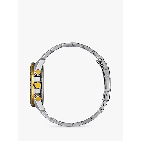 Buy Citizen AT4004-52E Men's Radio Controlled Eco-Drive Chronograph Two Tone Bracelet Strap Watch, Silver/Gold Online at johnlewis.com