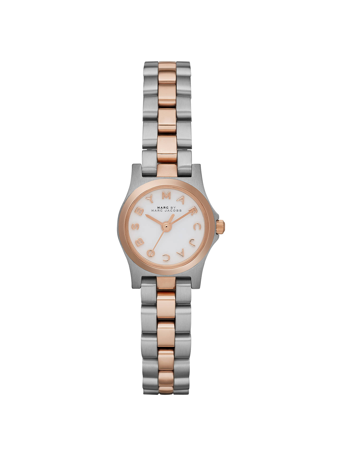 1409e29f3d9bd Buy Marc by Marc Jacobs MBM3261 Women's Dinky Henry Bracelet Strap Watch,  Silver / Rose