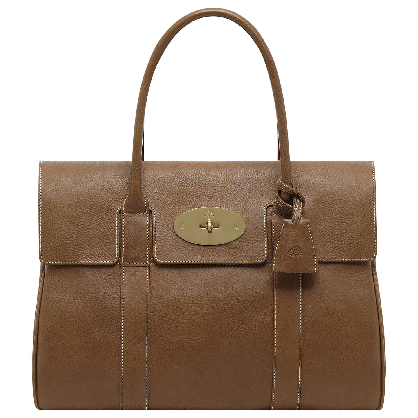 Mulberry bayswater natural veg tanned leather grab bag for The bayswater