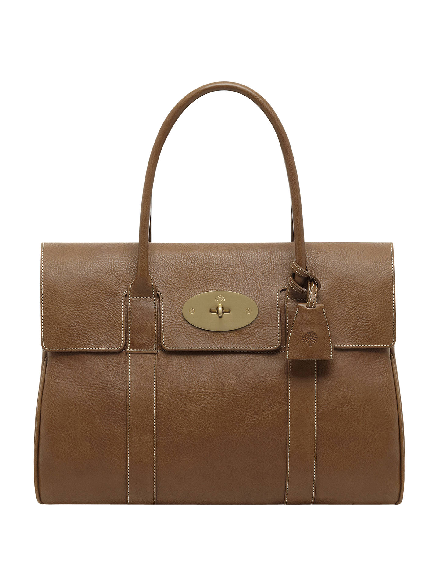 Buy Mulberry Bayswater Natural Veg Tanned Leather Grab Bag, Oak Online at johnlewis.com