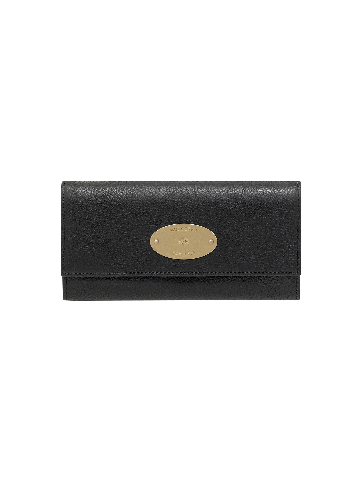 88f1d415ce Buy Mulberry Continental Leather Wallet, Black Online at johnlewis.com ...