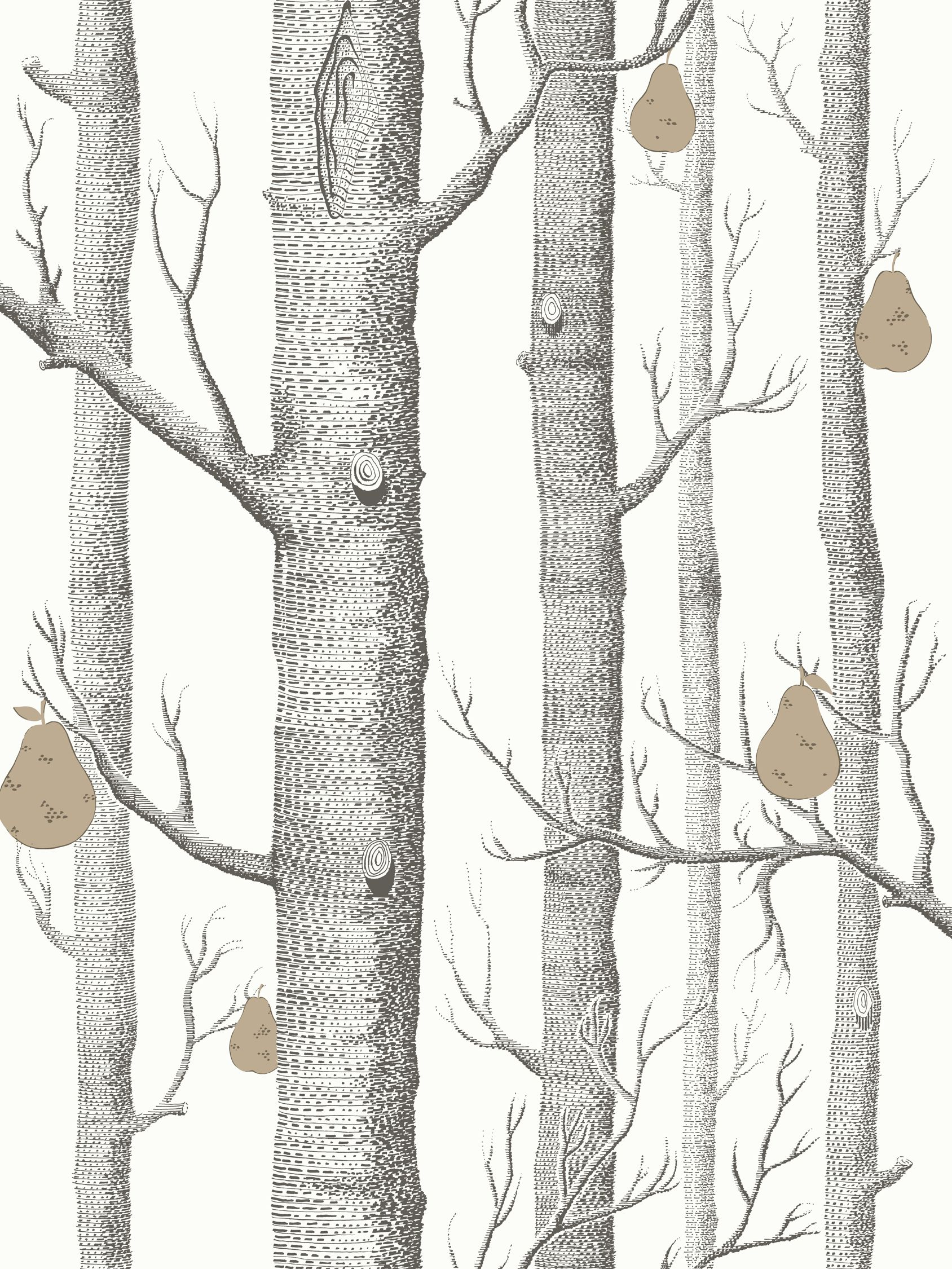 Cole Son Woods And Pears Wallpaper Black White Gold 955027