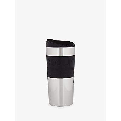 Bodum Vacuum Travel Mug, 0.35L, Stainless Steel / Black