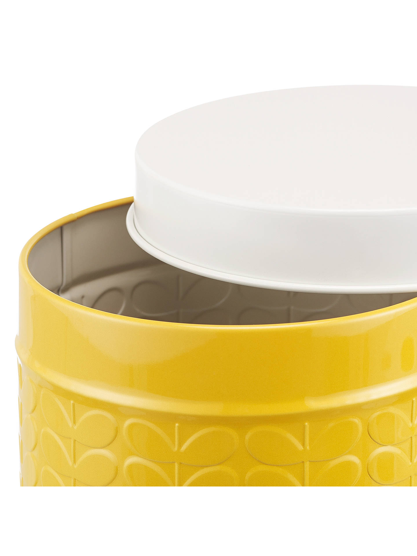 Buy Orla Kiely Raised Stem Kitchen Storage Tin Canister, Yellow Online at johnlewis.com