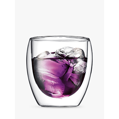 Bodum Pavina Glass Double Wall Cups, Set of 2, 0.25L