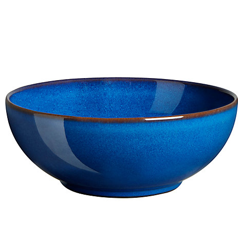 Buy Denby Imperial Blue Coupe Cereal Bowl, Dia.16.5cm Online at johnlewis.com