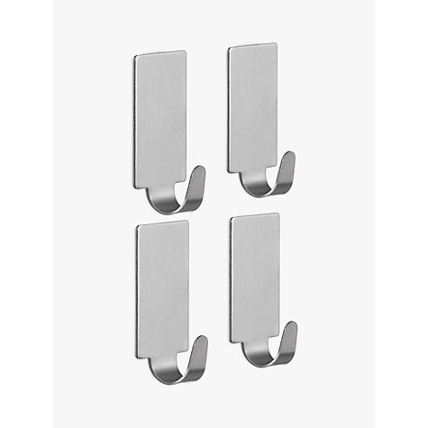Buy Wenko Self Adhesive Rectangular Hooks, Pack of 4 Online at johnlewis.com