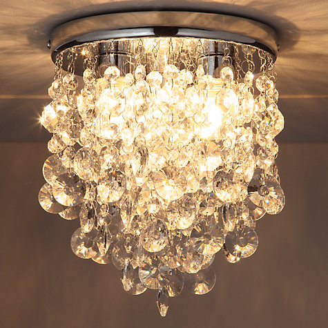Bathroom Light Fixtures John Lewis buy john lewis katelyn crystal bathroom flush ceiling light | john
