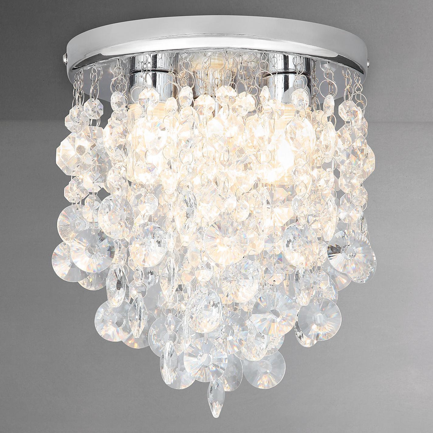 Buy John Lewis Katelyn Crystal Bathroom Flush Ceiling Light