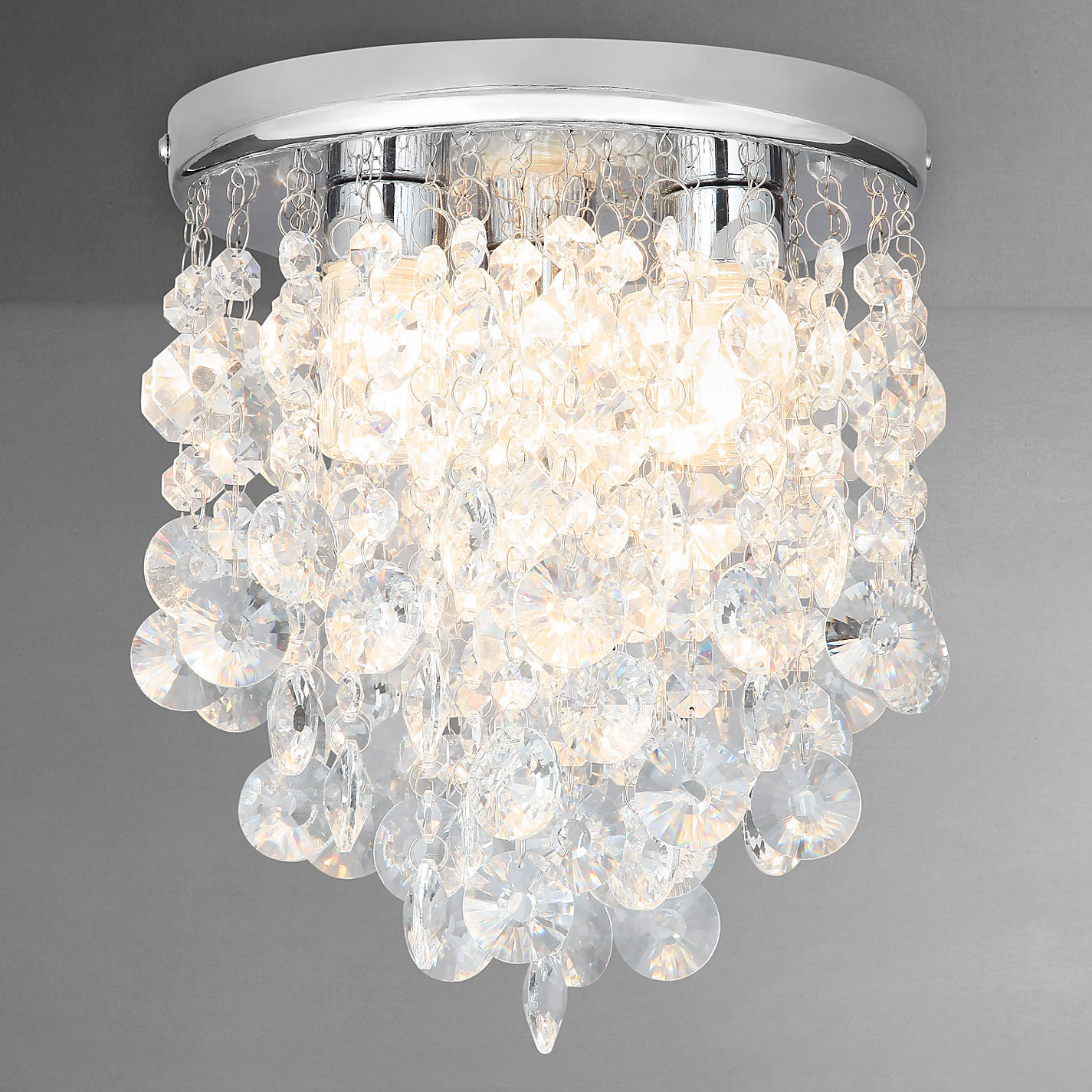 Buy john lewis katelyn crystal bathroom flush ceiling light john buy john lewis katelyn crystal bathroom flush ceiling light online at johnlewis mozeypictures Gallery