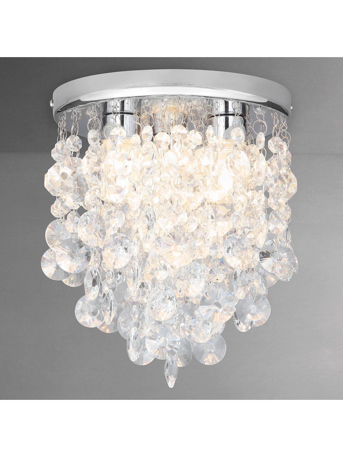 John Lewis Partners Katelyn Crystal Bathroom Flush Ceiling Light