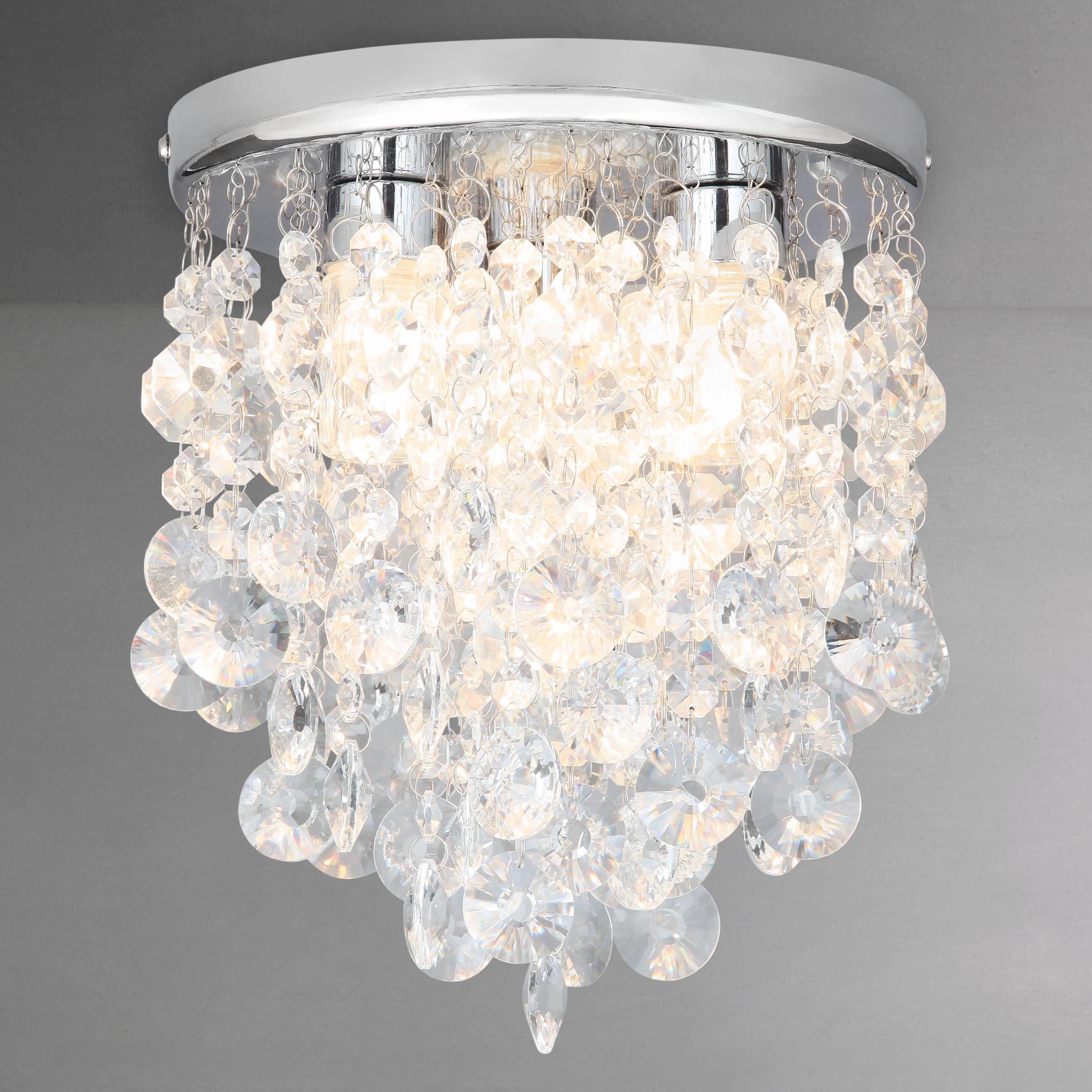 Flush Ceiling Lights John Lewis : John lewis katelyn crystal bathroom flush ceiling octer