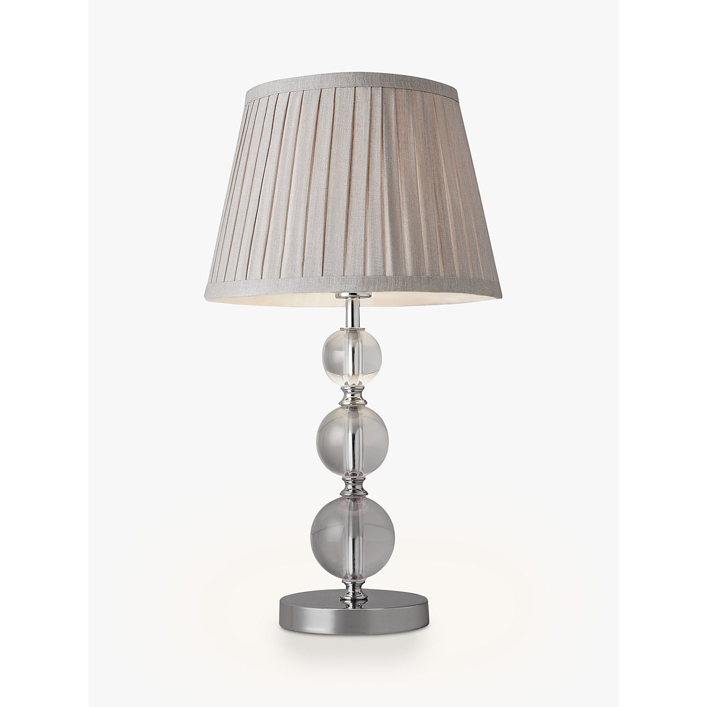 Buy John Lewis Lavinia Glass Ball Table Lamp, Clear Online At Johnlewis.com  ...