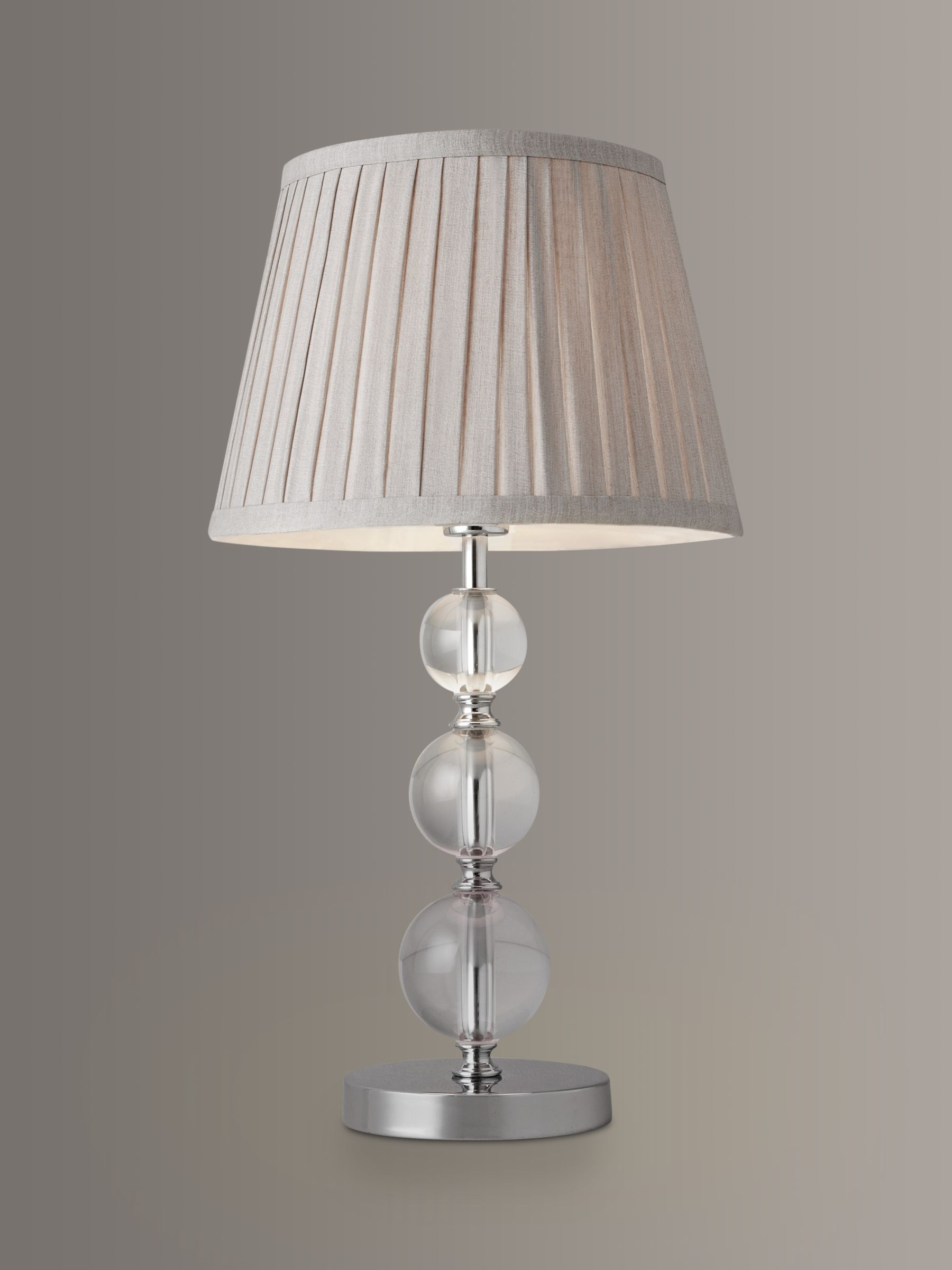 Image of: John Lewis Partners Lavinia Glass Ball Table Lamp Clear At John Lewis Partners