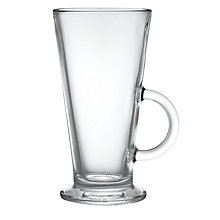 Buy John Lewis Café Latte Glasses, Set of 2, Clear, 280ml Online at johnlewis.com