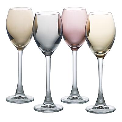 LSA International Polka Metallic Liqueur Glasses, Set of 4