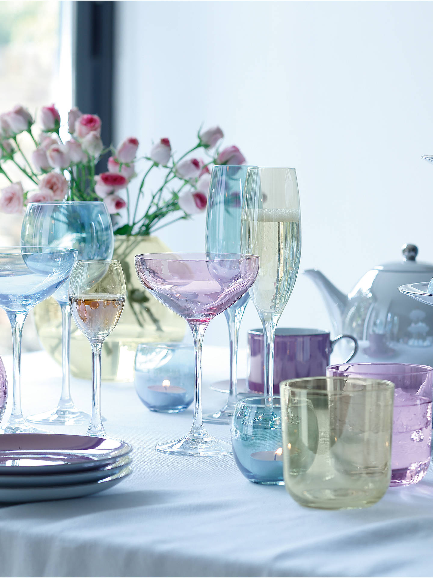 Buy LSA International Polka Pastel Wine Glasses, 0.4L, Set of 4 Online at johnlewis.com