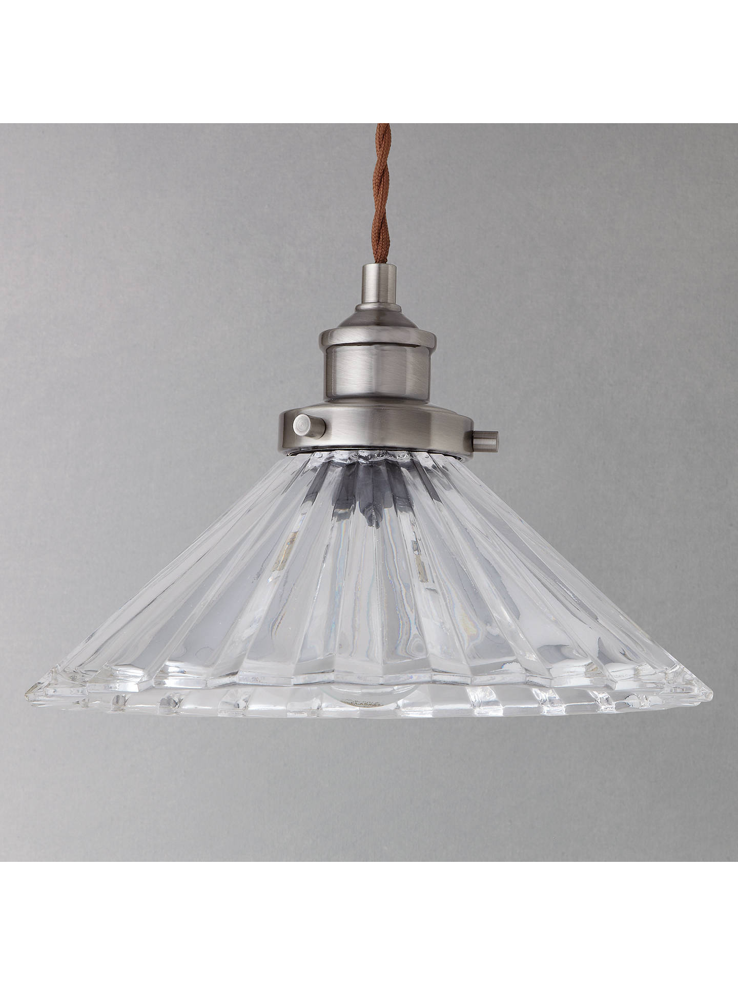 BuyJohn Lewis & Partners Phineas Resto Glass Pendant Online at johnlewis.com