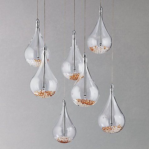 Buy john lewis sebastian 7 light drop ceiling light john for Kitchen lighting ideas john lewis
