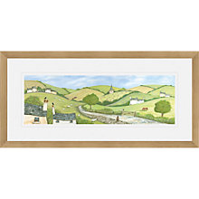 Buy Janice Mcgloine - Country Lane Framed Print, 52 x 107cm Online at johnlewis.com