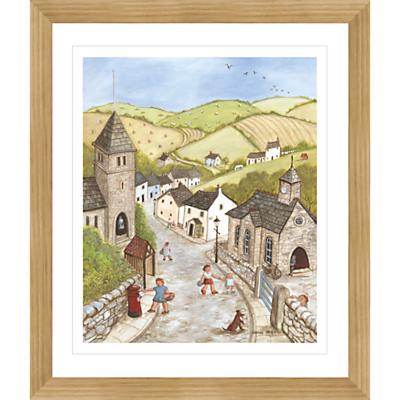 Janice Mcgloine – Countryside Church Framed Print, 57 x 66cm