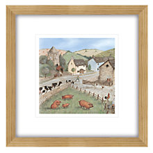 Buy Janice Mcgloine - Country Side Pigs Framed Print, 57 x 57cm Online at johnlewis.com