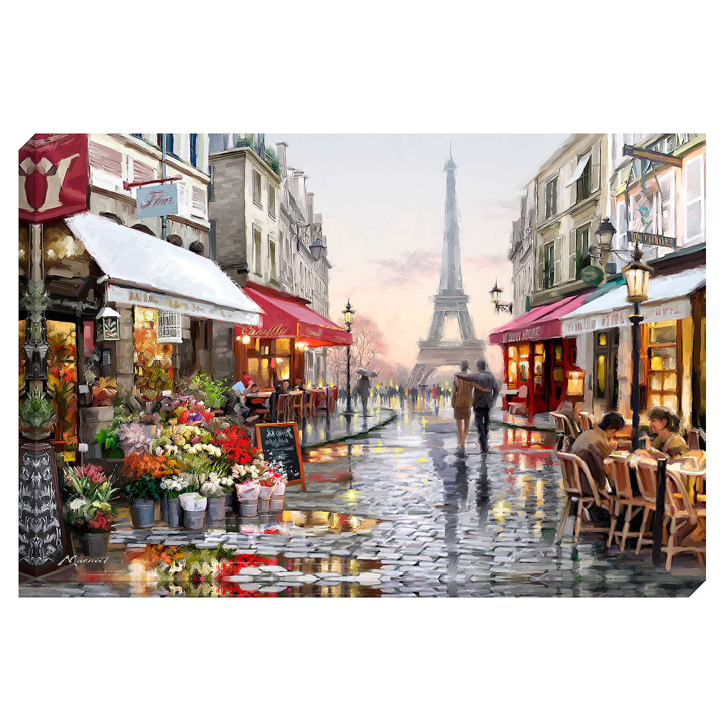 richard macneil paris flower shop print on canvas 70 x 100cm at john lewis. Black Bedroom Furniture Sets. Home Design Ideas