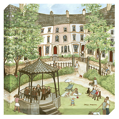 Buy Janice Mcgloine - Park Bandstand Print on Canvas, 50 x 50cm Online at johnlewis.com