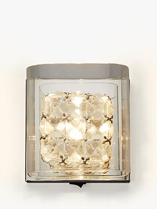 430089f03d1c John Lewis & Partners Vincenzo Square Crystal Cube Wall Light