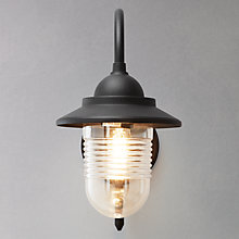 Buy John Lewis Wickham Outdoor Wall Light, Black Online at johnlewis.com