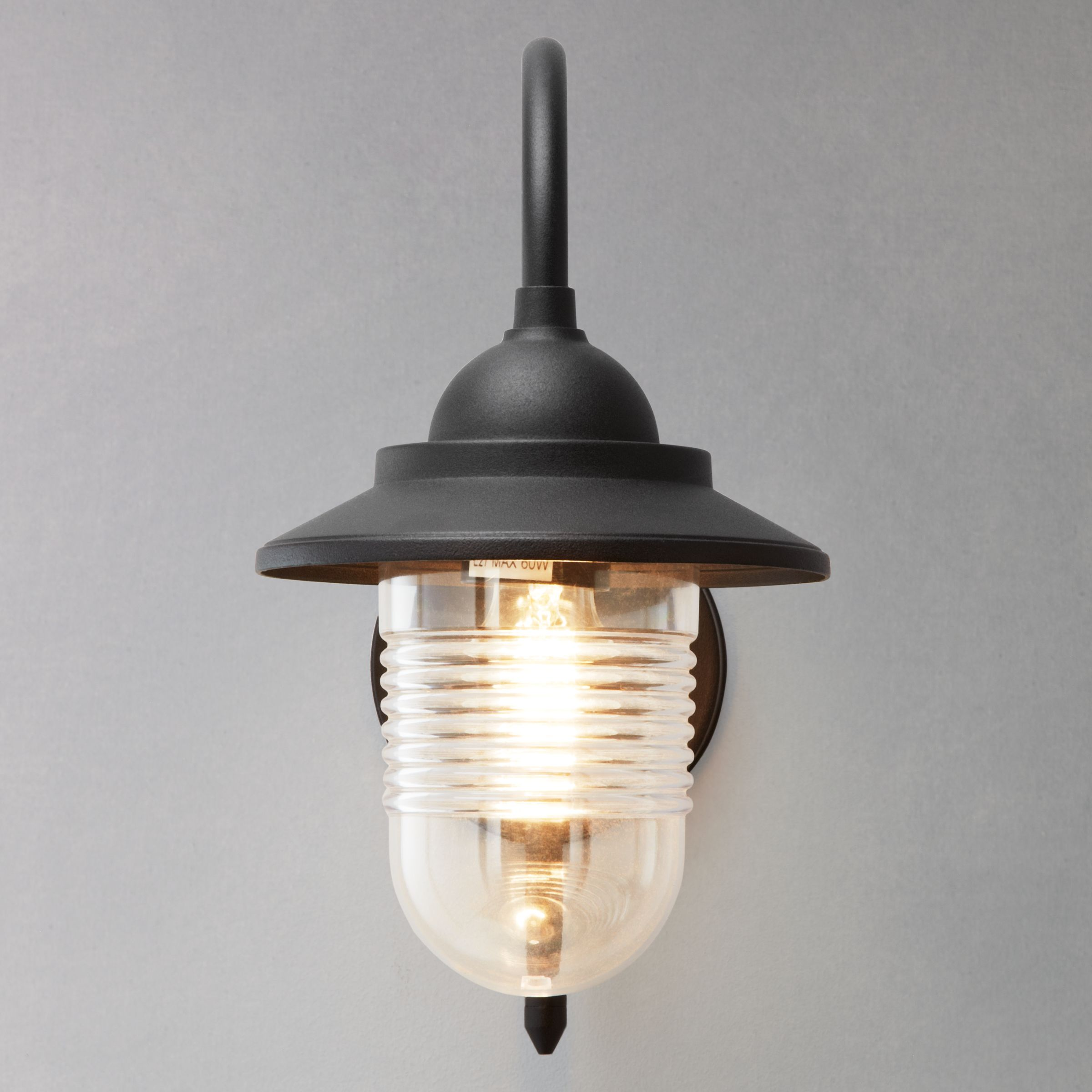 Picture of: John Lewis Partners Wickham Outdoor Wall Light Black At John Lewis Partners