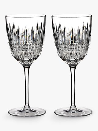 Waterford Lismore Diamond Cut Lead Crystal Goblet, Set of 2, 250ml, Clear
