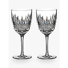 Buy Waterford Lismore Diamond Cut Lead Crystal Wine Glasses, Set of 2 Online at johnlewis.com