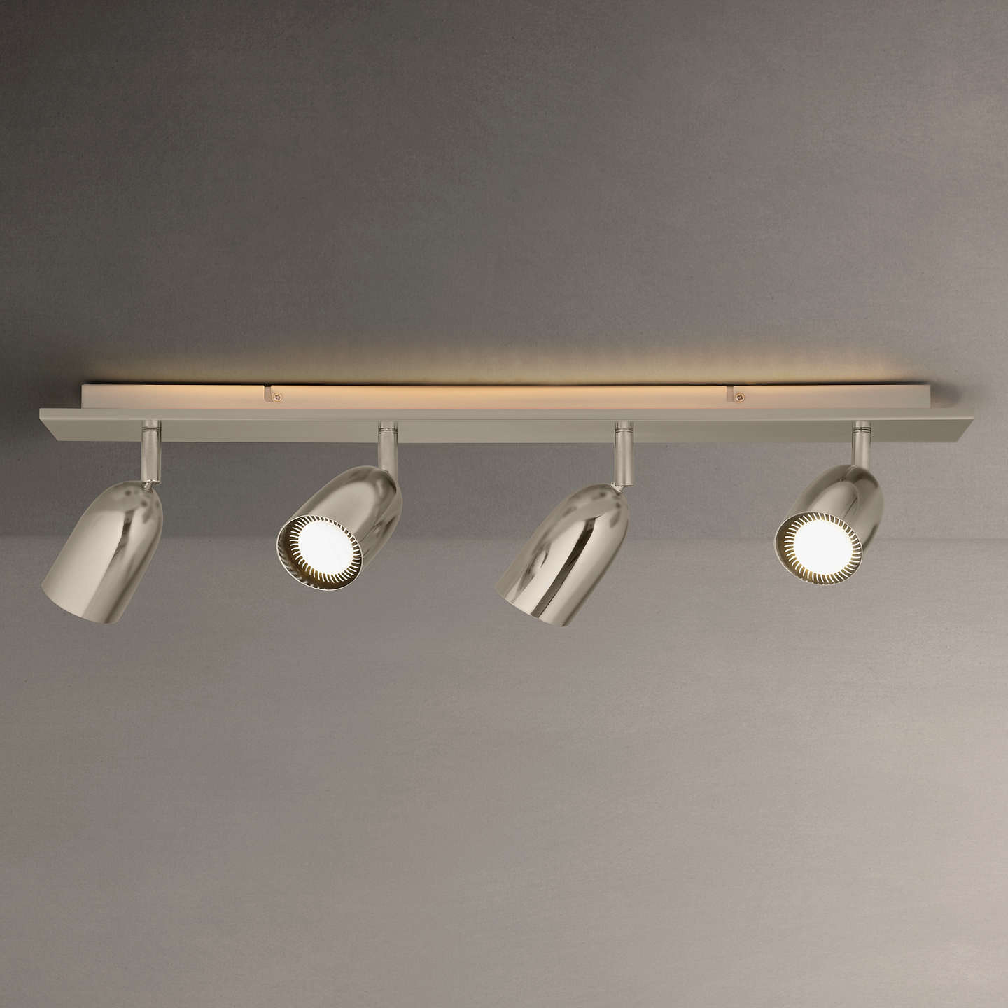 Buyjohn Lewis Modena Led Backlight Spotlights, Silver, 4 Light Online