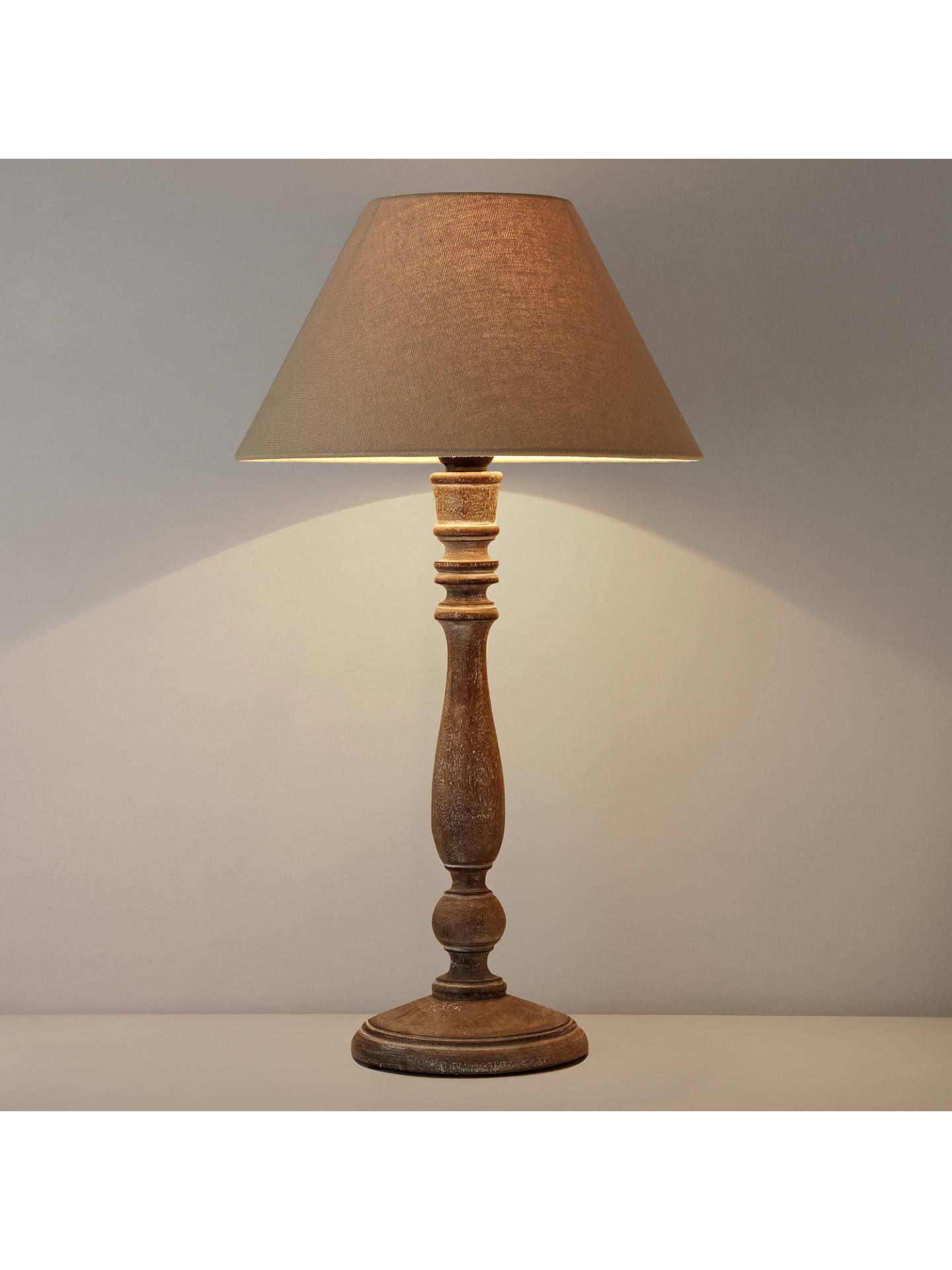 Buy John Lewis Rupert Rubbed Wood Table Lamp, Graphite Online at johnlewis.com