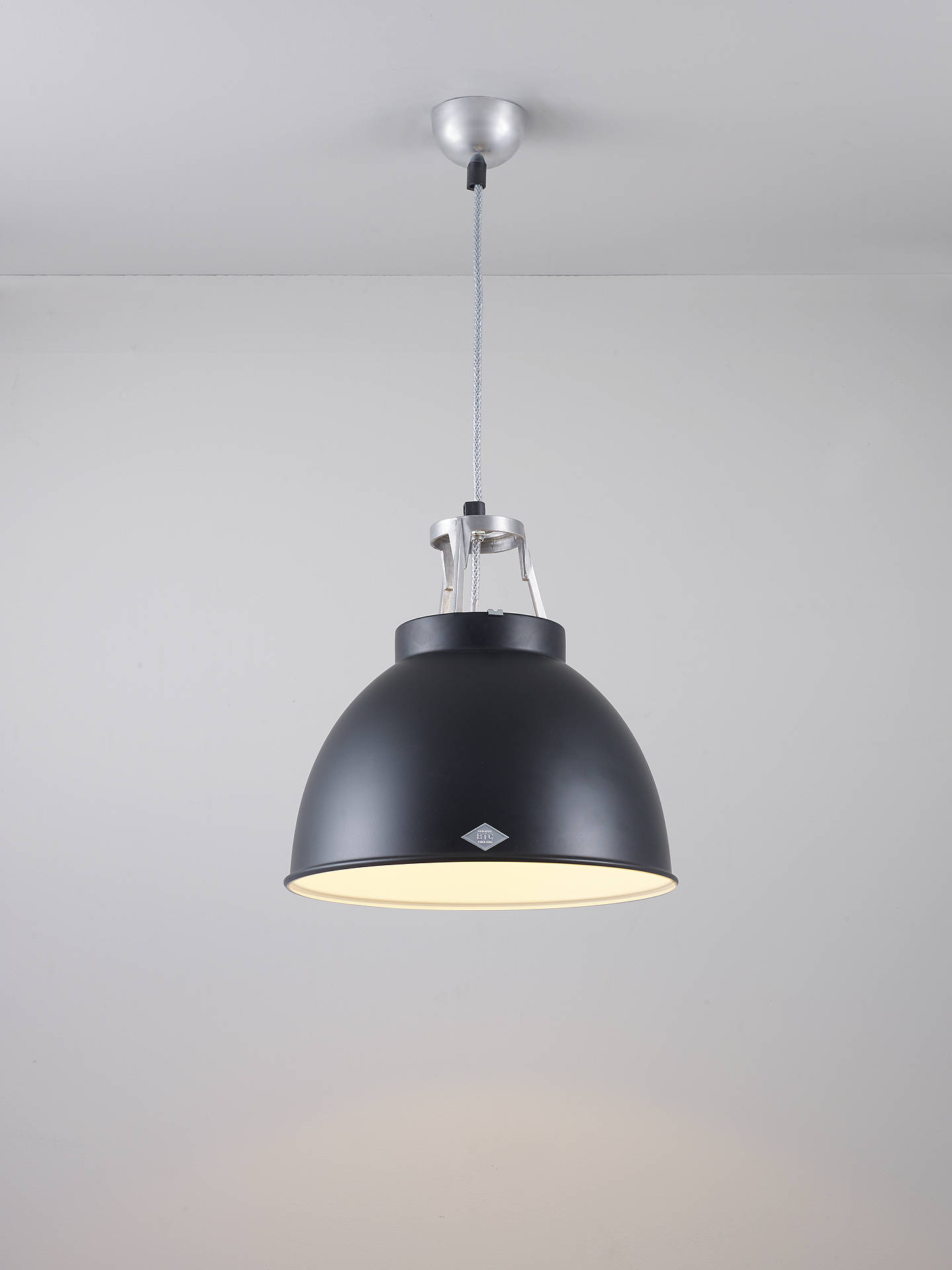 BuyOriginal BTC Titan Size 1 Pendant Ceiling Light, Black Online at johnlewis.com