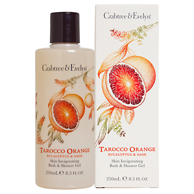 Crabtree & Evelyn Tarocco Orange, Eucalyptus and Sage Bath & Shower Gel 250ml