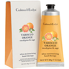 Buy Crabtree & Evelyn Tarocco Orange, Eucalyptus & Sage Hand Therapy Cream, 100g Online at johnlewis.com