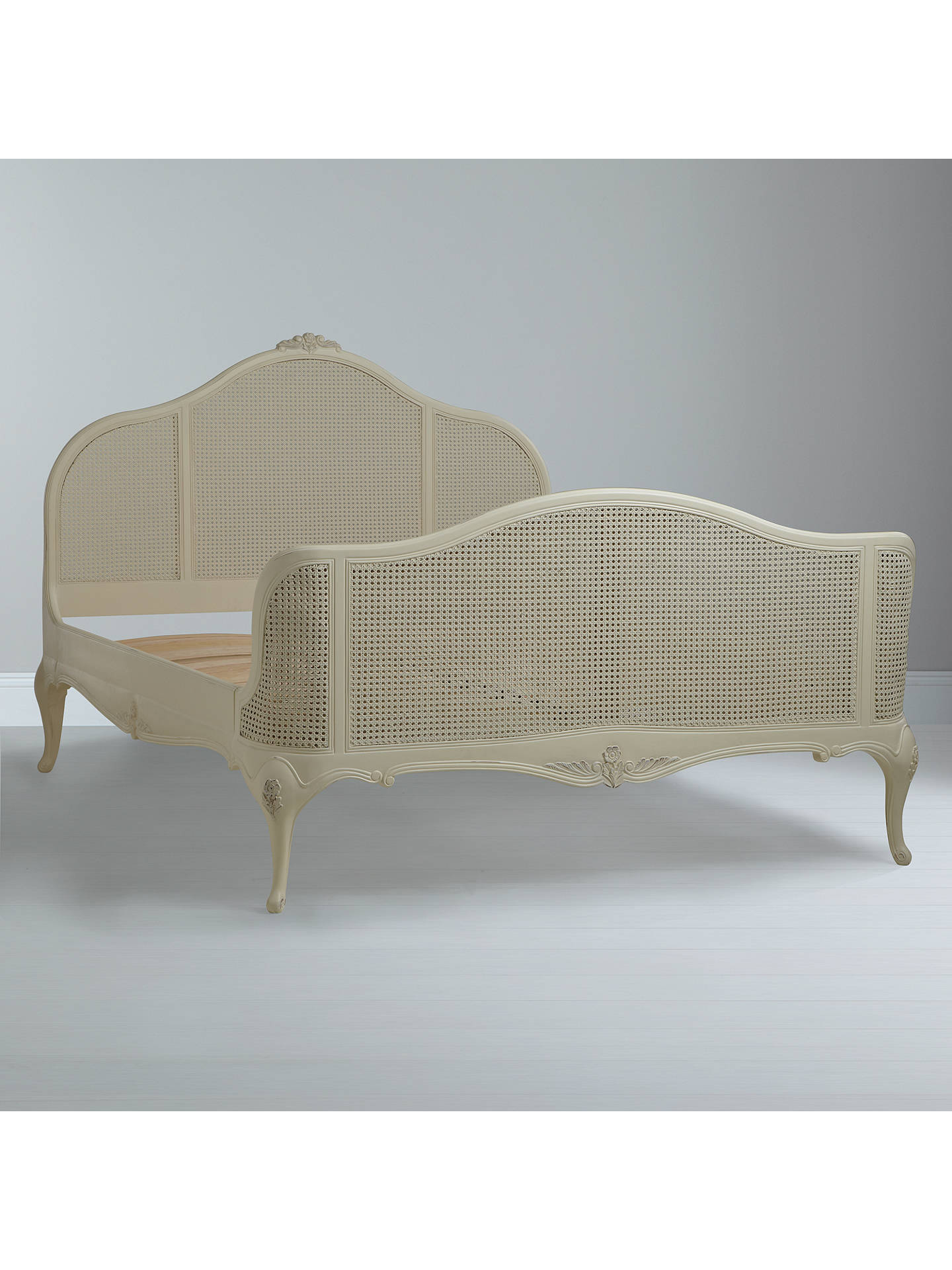 John Lewis Partners Rose Rattan Bed Frame King Size Ivory