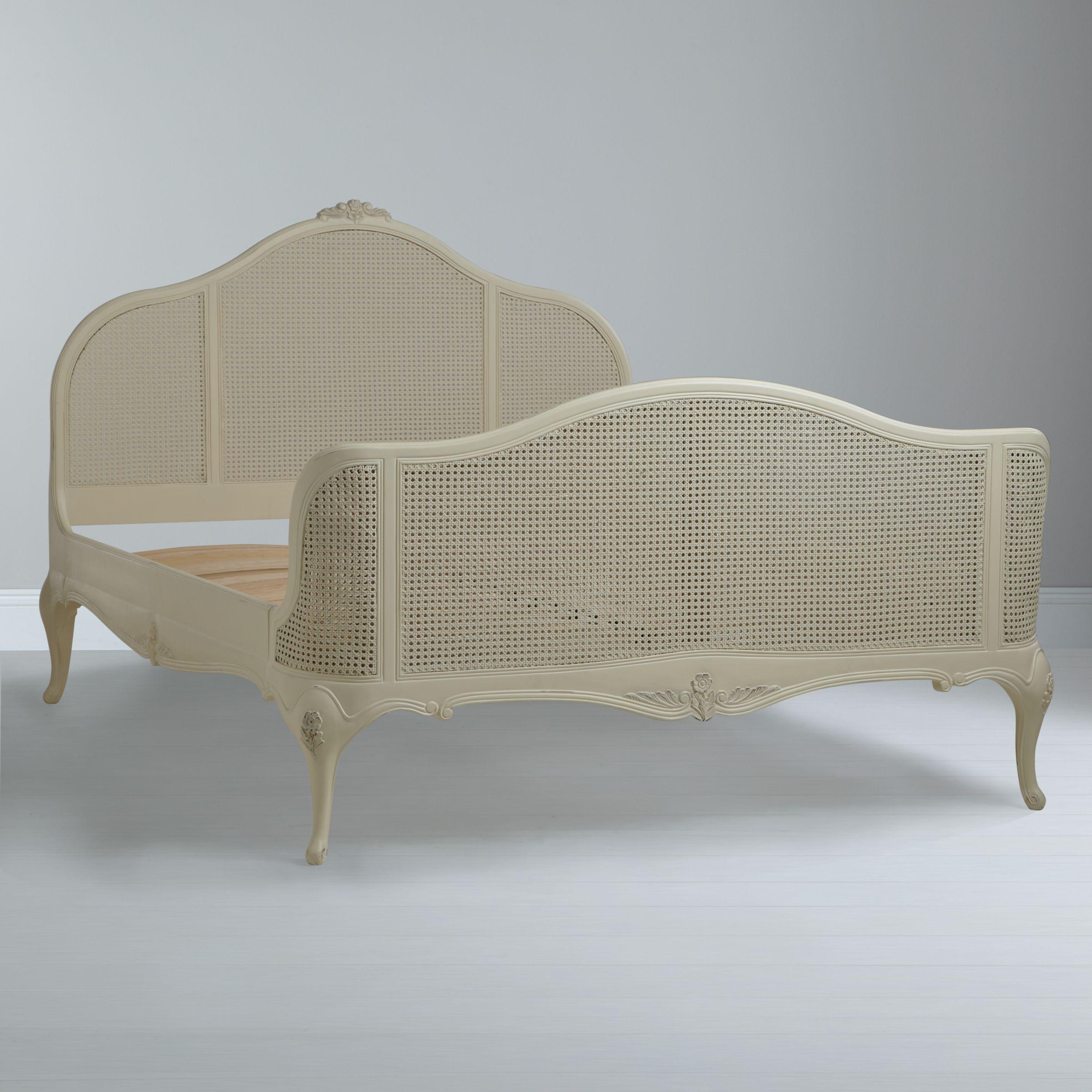 John Lewis Rose Rattan Bed Frame Super King Size Ivory At John Lewis Partners