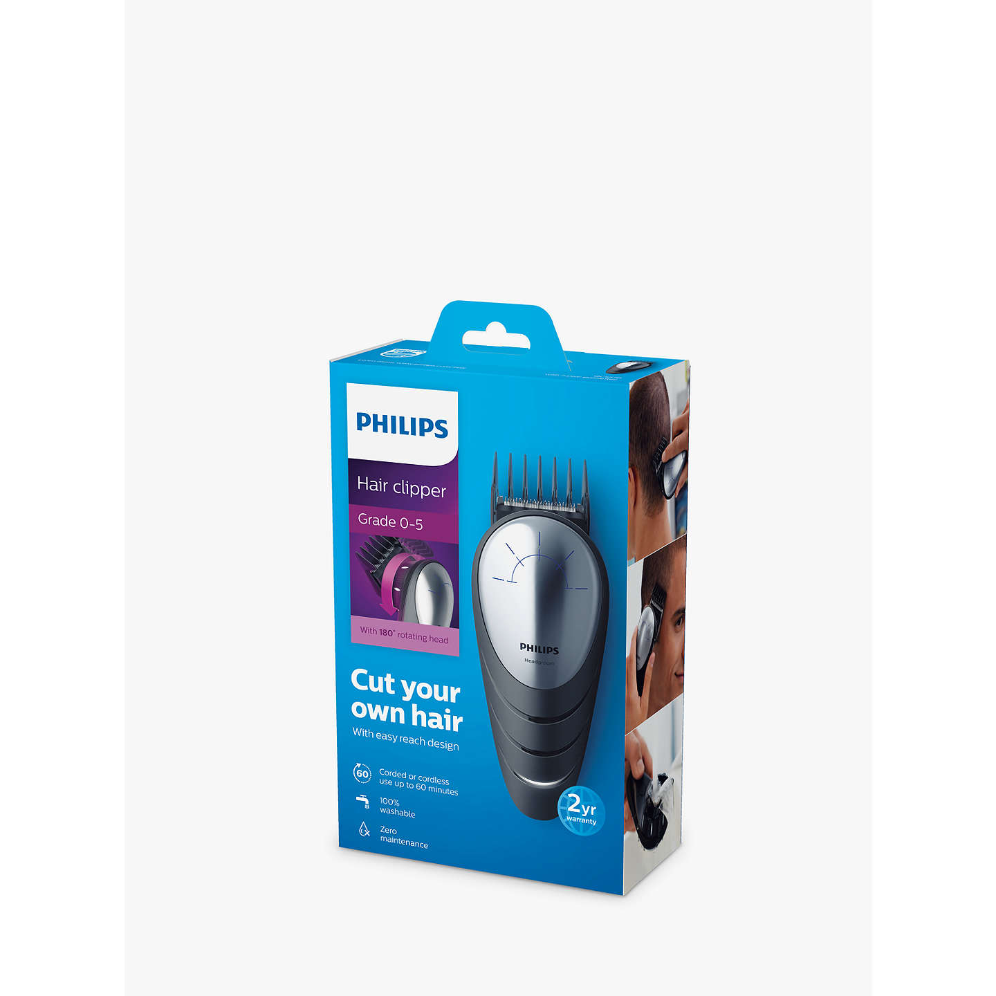 Philips qc557013 do it yourself hair clipper with 180 degree buyphilips qc557013 do it yourself hair clipper with 180 degree rotating head solutioingenieria