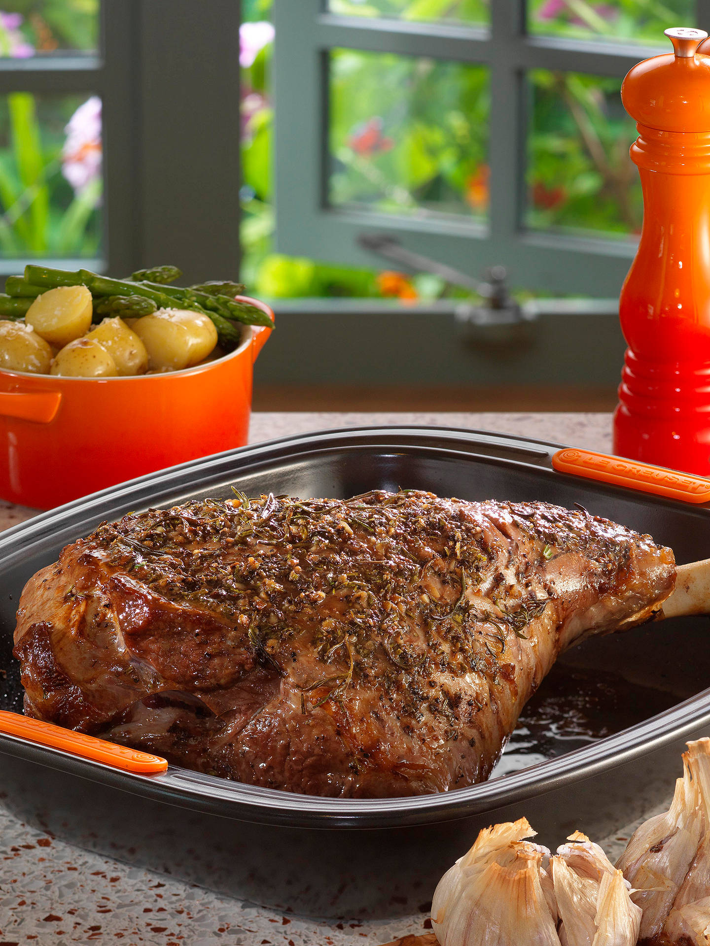 BuyLe Creuset Carbon Steel Toughened Non-Stick Roaster, L32cm Online at johnlewis.com