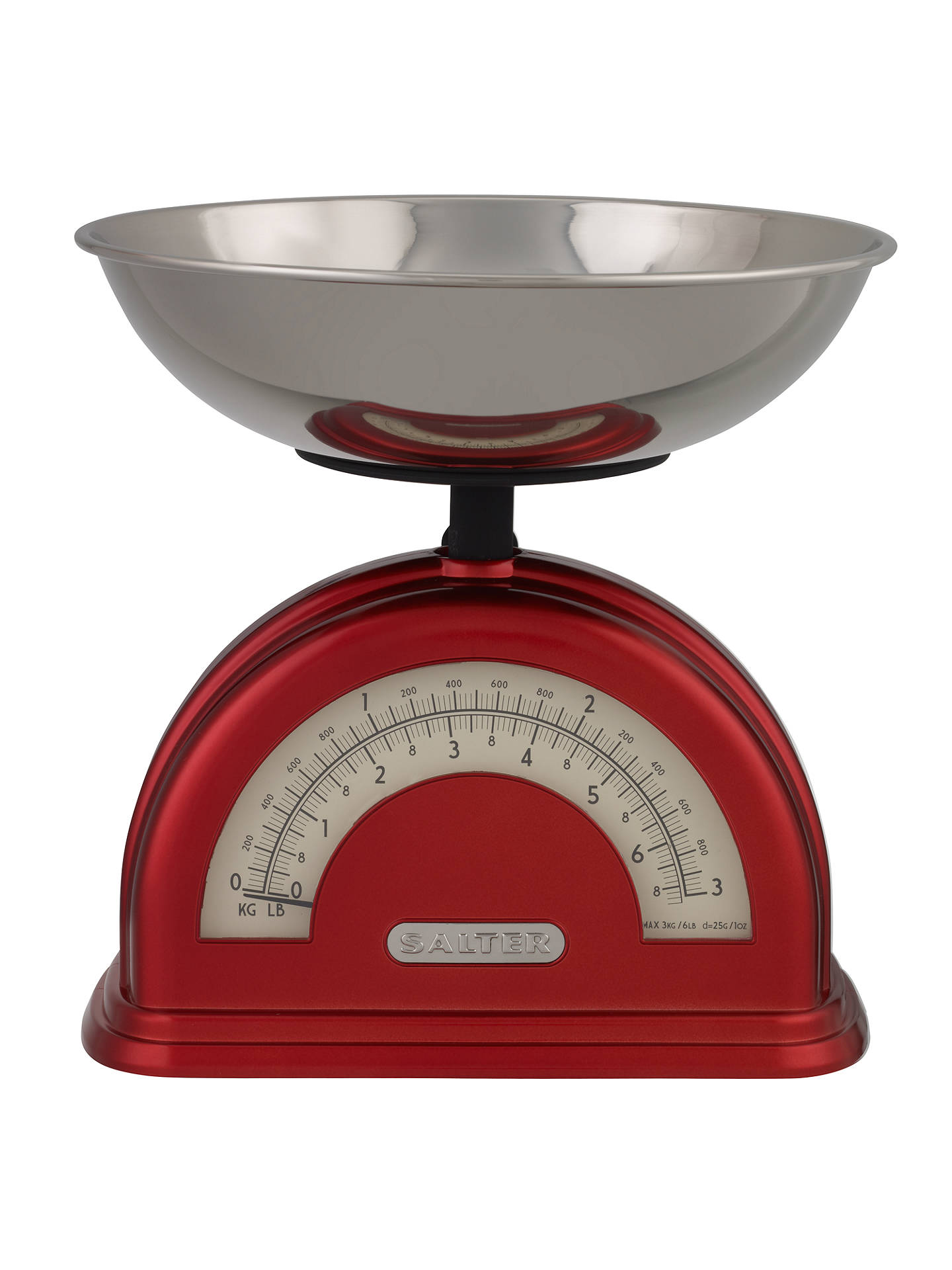 Salter Vintage Mechanical Kitchen Scale Red At John Lewis Partners