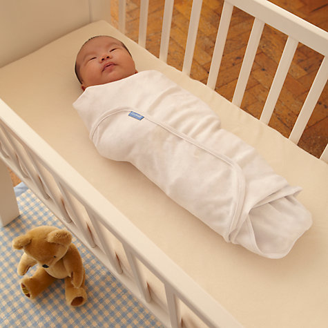 Buy Groswaddle Swaddle Baby Blankets, Pack of 2, White Online at johnlewis.com