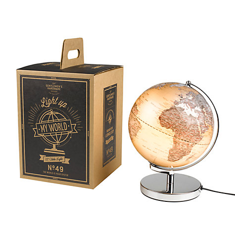 Buy Gentlemen's Hardware Illuminated Globe Light Online at johnlewis.com