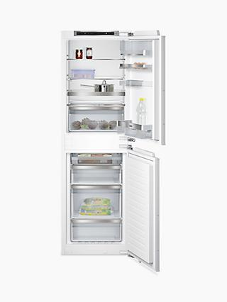Siemens KI85NAD30G Integrated Fridge Freezer, White