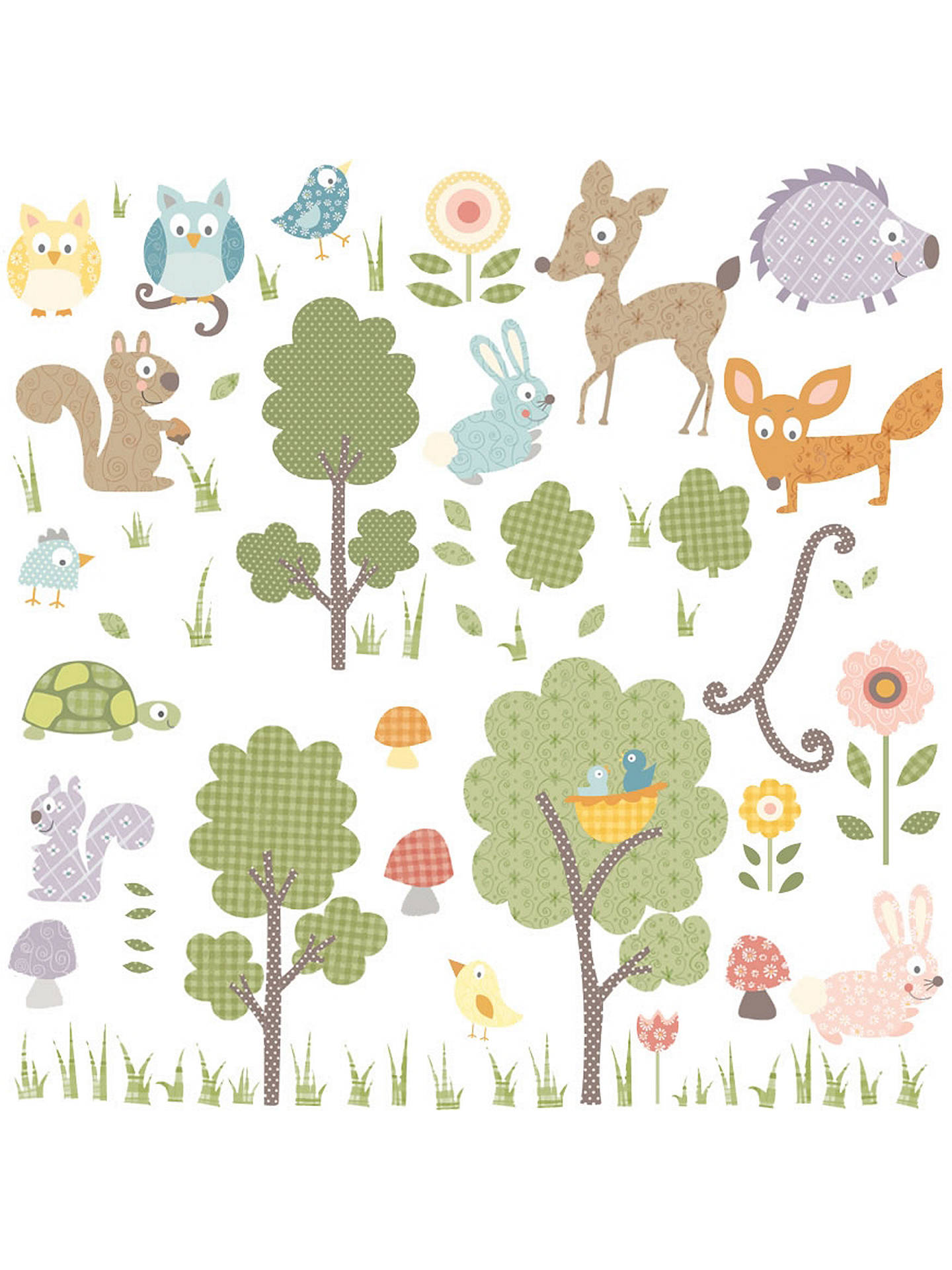 BuyJomoval Woodland Creatures Wall Stickers Online at johnlewis.com Jomoval John Lewis \u0026 Partners