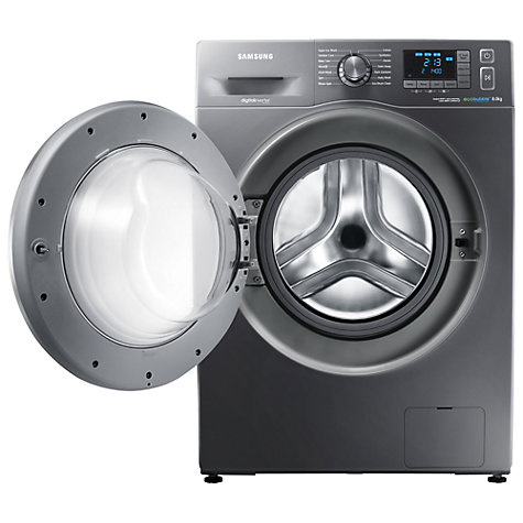 Buy Samsung WF80F5E5U4X ecobubble™ Freestanding Washing Machine, 8kg Load, A+++ Energy Rating, 1400rpm Spin, Graphite Online at johnlewis.com