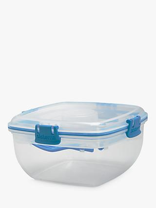 Sistema Salad To Go Container, White/Blue